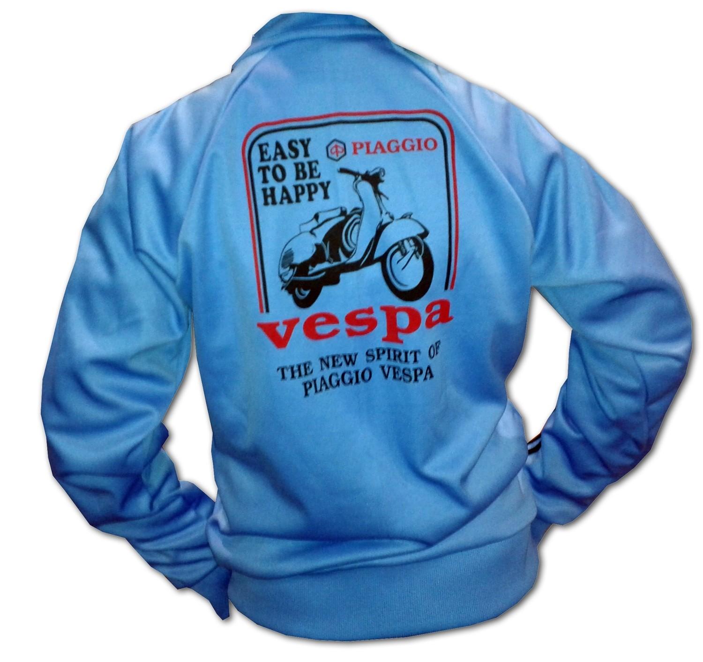 5a66659f Sudadera vespa azul negro | Tucuman Aventura
